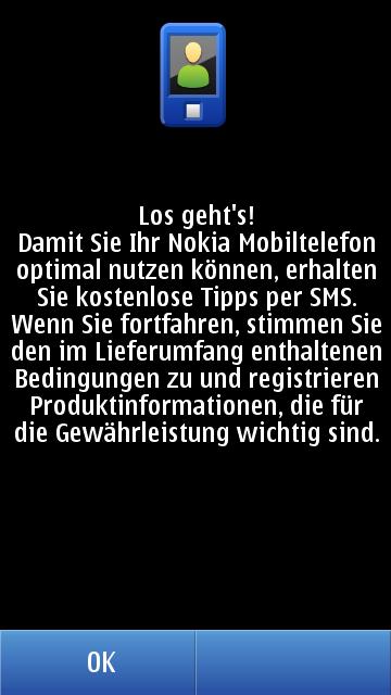Nokia Zwangs-Registrierung